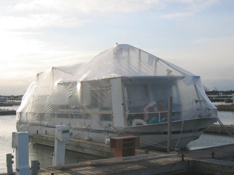 Shrink Wrap We Live On A Boat